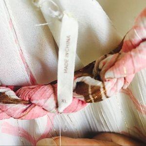 Guess Tops - Guess Pink White Chevron Stripe Top Size XL EUC